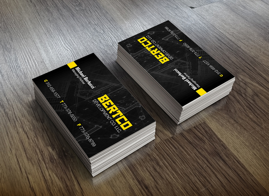 Bertco Development business card - Jin Li